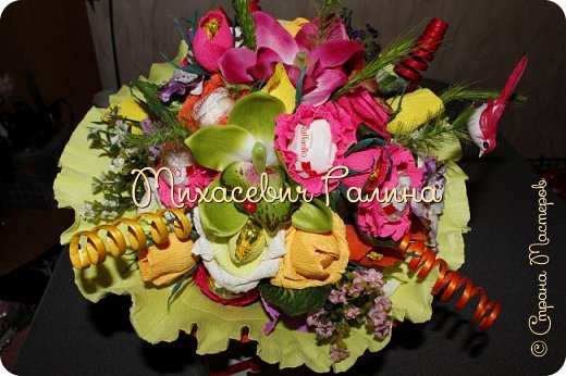 Сегодня у меня две работы! букет для сына на первое сентября,а композиция для очень хорошего человечка у которого я покупаю свои любимые цветы и добавки для моих творений фото 7