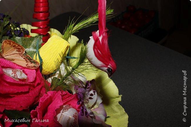 Сегодня у меня две работы! букет для сына на первое сентября,а композиция для очень хорошего человечка у которого я покупаю свои любимые цветы и добавки для моих творений фото 9