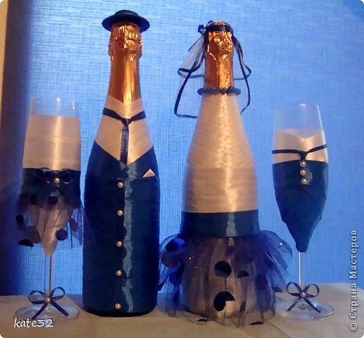 30 июля мой старший брат наконец-то женился) Свадьба была в синем цвете. Так и родился этот набор) фото 1