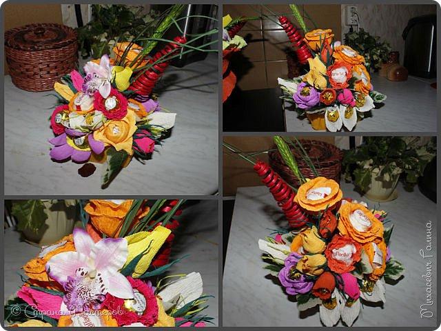 Сегодня у меня две работы! букет для сына на первое сентября,а композиция для очень хорошего человечка у которого я покупаю свои любимые цветы и добавки для моих творений фото 2