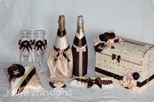 Букет в кремово - шоколадном цвете.  Выполнен на заказ. фото 3