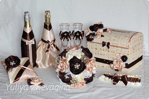 Букет в кремово - шоколадном цвете.  Выполнен на заказ. фото 5