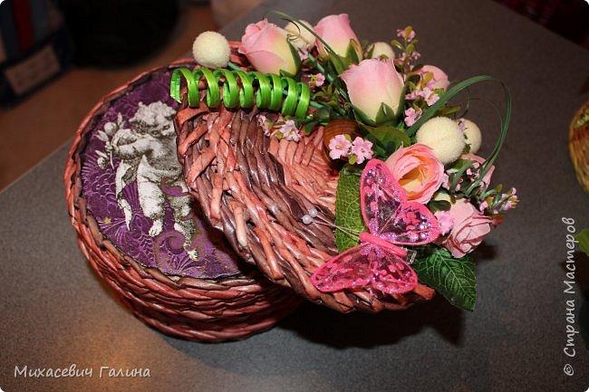 Увлеклась я флористикой,вот и решила шкатулочки свои приукрасить фото 12