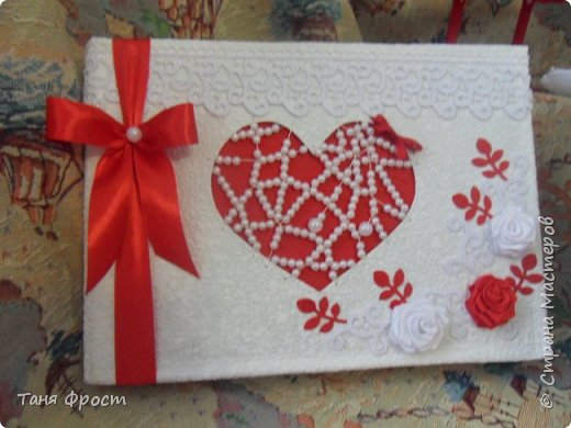 Свадебный комплект, созданный на контрасте красного и белого фото 2