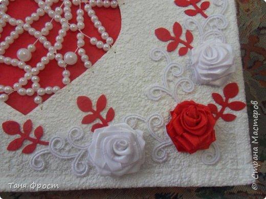 Свадебный комплект, созданный на контрасте красного и белого фото 3