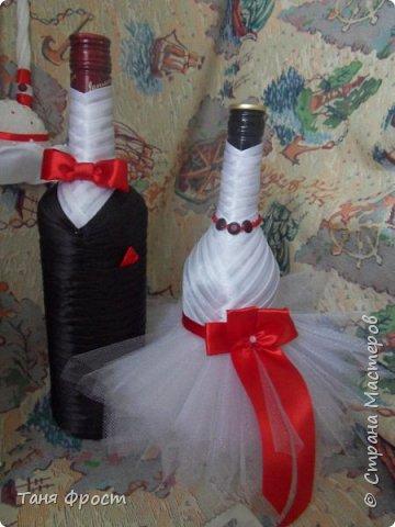 Свадебный комплект, созданный на контрасте красного и белого фото 5