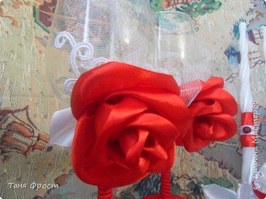Свадебный комплект, созданный на контрасте красного и белого фото 8