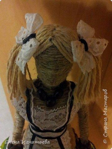 Куклы Поделка изделие День учителя Моделирование конструирование Карандашница - подарок на день учителя  Кофе Кружево Шпагат фото 6