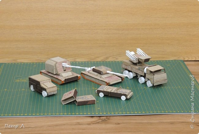 Военная техника из спичечных коробков | Страна Мастеров