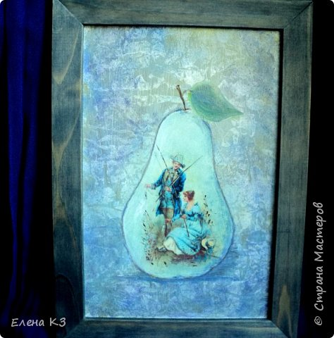 Декор предметов Картина панно рисунок Декупаж Силуэтный декупаж и эбеновое дерево фото 11
