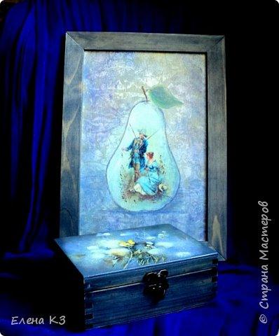Декор предметов Картина панно рисунок Декупаж Силуэтный декупаж и эбеновое дерево фото 1