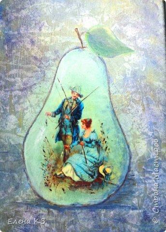 Декор предметов Картина панно рисунок Декупаж Силуэтный декупаж и эбеновое дерево фото 3