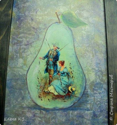 Декор предметов Картина панно рисунок Декупаж Силуэтный декупаж и эбеновое дерево фото 4