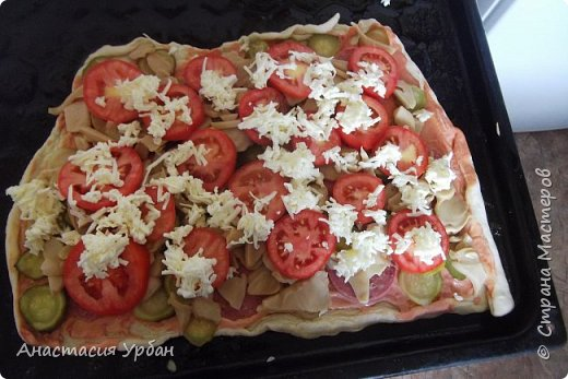 Сегодня мы приготовим пиццу из СЛОЁНОГО теста. фото 4