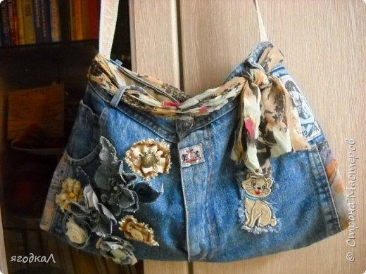 Сумки из старых джинсов. фото 4