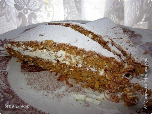 Овсяное пирожное с кленовым сиропом и творожным кремом
