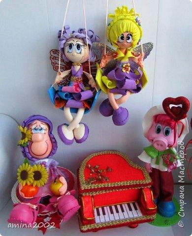 Добрый вечер! Новые игрушки из фома, кроме рояля. Рояль сделан по МК Серафимы 77 https://stranamasterov.ru/node/814871?c=favorite. Только меньшего размера. фото 1