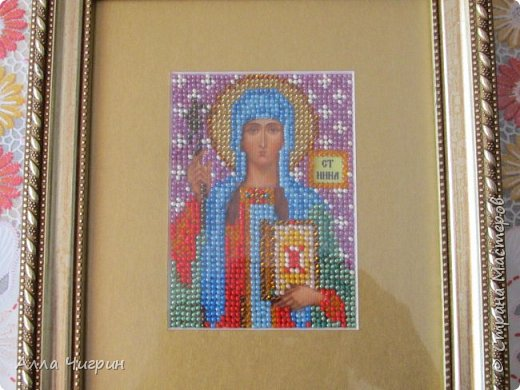 Св. Муч. Алла (вышивал на подарок бабушке Алле ) фото 4