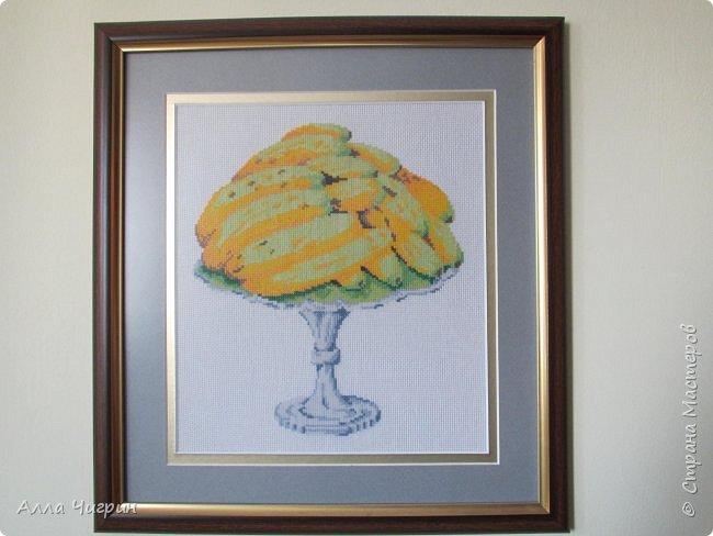 "Картина ""Закат"" размер зашитой работы 23 см х 19 см фото 3"