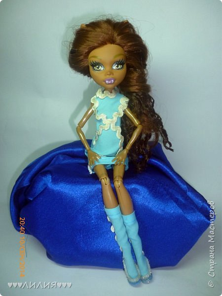 Голубое платьице и сапожки - вот новый комплектик для Джеки)ну и конечно сразу же фотосессия) фото 7