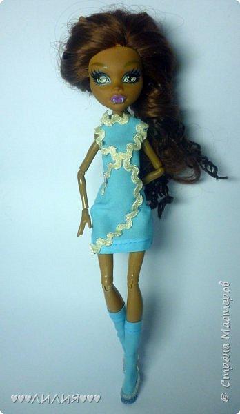 Голубое платьице и сапожки - вот новый комплектик для Джеки)ну и конечно сразу же фотосессия) фото 3