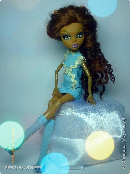 Голубое платьице и сапожки - вот новый комплектик для Джеки)ну и конечно сразу же фотосессия) фото 1