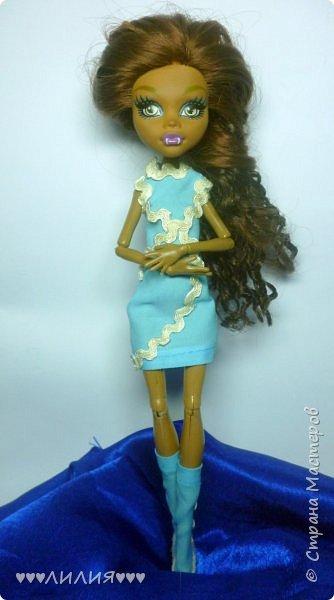 Голубое платьице и сапожки - вот новый комплектик для Джеки)ну и конечно сразу же фотосессия) фото 11