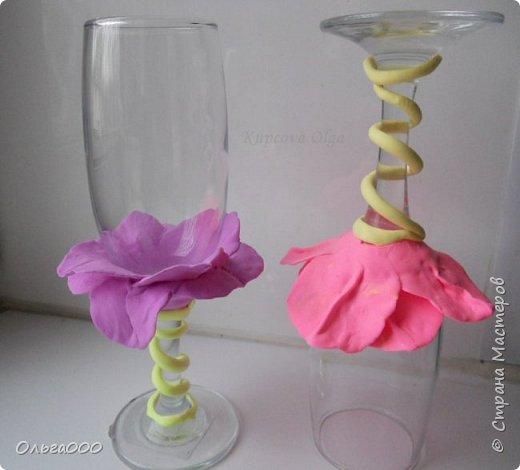 Цветочные бокальчики фото 3