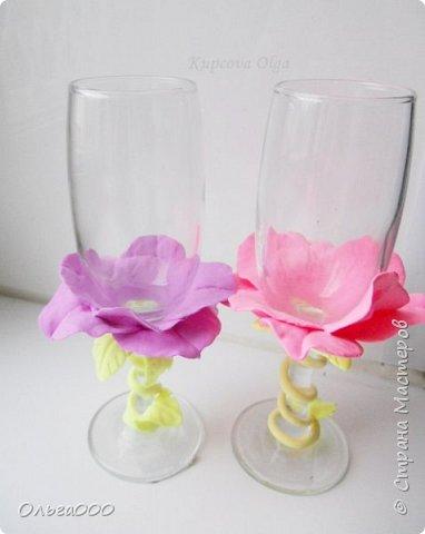 Цветочные бокальчики фото 1