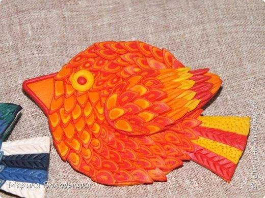 Продолжаю осваивать запекаемую полимерную глину. Вот пыталась  по МК Анны Оськиной сделать птичек в экструдерной технике. фото 3