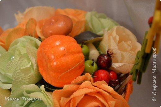 Осенняя корзинка,делала свекрови на день рождения! фото 2