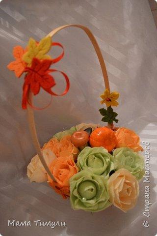 Осенняя корзинка,делала свекрови на день рождения! фото 1