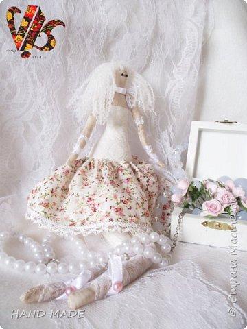 Ой) понравилось мне шить, я вам скажу)))долго не решалась сшить куклу Тильду) и вот, под вдохновением родилась буквально за вечер))))(если можно так сказать конечно же))) фото 2