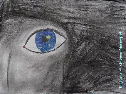 """Давненько я ничего не выкладывала!Пора исправляться. Мои рисунки за последнее время: """"Живая вселенная""""фломастеры, и масляная пастель. А4.  фото 1"""