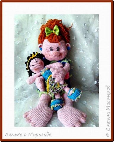 """Приветствую всех заглянувших ко мне на огонек. Совсем недавно я хвасталась вам своей первой куколкой """"Няшей"""",а сегодня я хочу показать вам ее подружку.  Куколку зовут """"Маришка"""".размер-27 см. Отлично сидит,а вот стоит только с поддержкой(думаю от этого она не станет хуже) фото 5"""