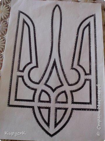 Герб Украіни зі стразів. фото 4