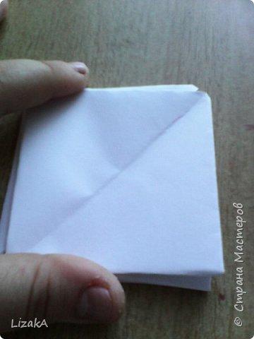 """Привет всем,кто заглянул ко мне в гости! :) Это мой 1 блог)) Однажды на одной сайте(не помню на каком) я увидела:""""Как сделать цветок из бумаги?"""" Делается в технике оригами,только нам понадобятся ножницы :) фото 8"""