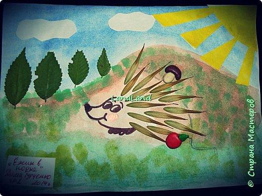 """наши очередные аппликации на конкурс в сад,правда листьев желтых на улице практически нет,поэтому сова у нас """"летняя"""")))делали с сынулей (3 года 3 месяца),и вдохновляля нас ляля в животике))))))))) фото 3"""