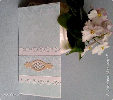Заказали мне конвертик на свадьбу. И так меня увлекла эта тема, что получилась целая серия конвертов. Заказчица выбрала этот. фото 3