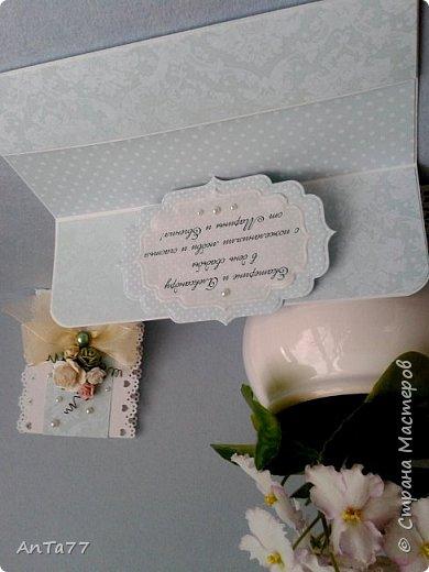 Заказали мне конвертик на свадьбу. И так меня увлекла эта тема, что получилась целая серия конвертов. Заказчица выбрала этот. фото 2