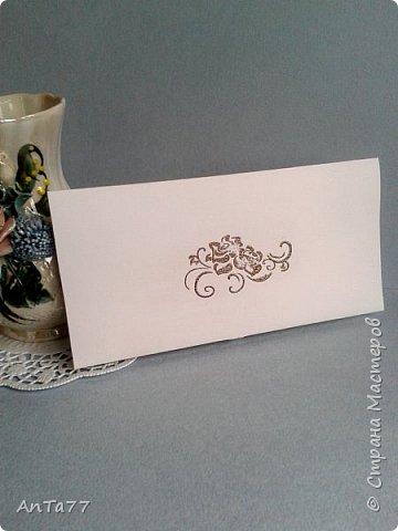 Заказали мне конвертик на свадьбу. И так меня увлекла эта тема, что получилась целая серия конвертов. Заказчица выбрала этот. фото 10
