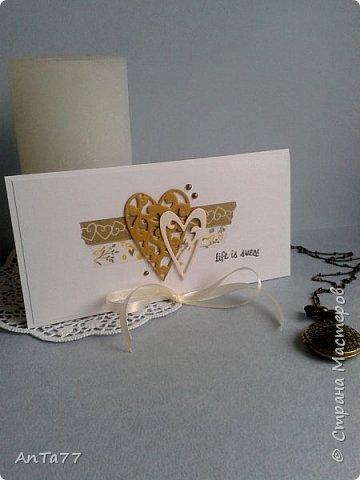 Заказали мне конвертик на свадьбу. И так меня увлекла эта тема, что получилась целая серия конвертов. Заказчица выбрала этот. фото 8