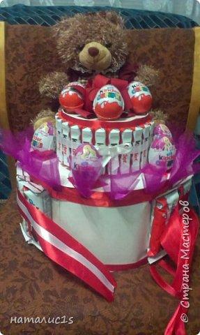 Делала тортик на день рождения девочки. за основу взяла вырезала из коробок 2 круга, фото 3
