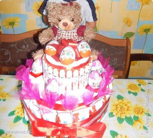 Делала тортик на день рождения девочки. за основу взяла вырезала из коробок 2 круга, фото 1