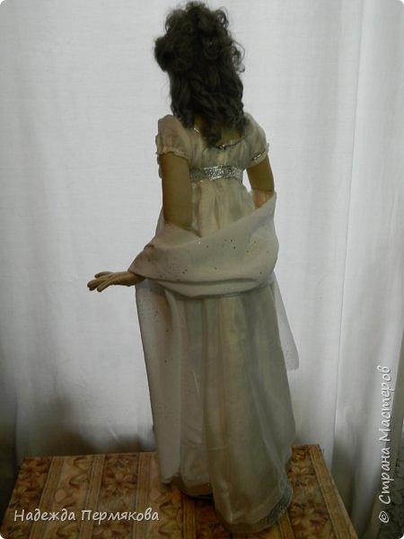 Текстильная кукла из синтепона, обтянутая колготочным капроном, внутри проволочный каркас, размер куклы 65 см. фото 4