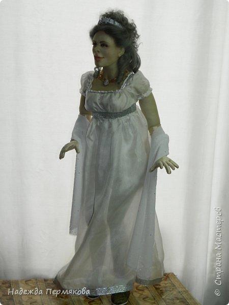 Текстильная кукла из синтепона, обтянутая колготочным капроном, внутри проволочный каркас, размер куклы 65 см. фото 3