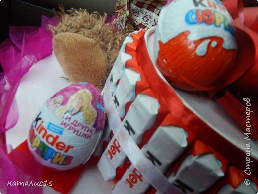 Делала тортик на день рождения девочки. за основу взяла вырезала из коробок 2 круга, фото 4