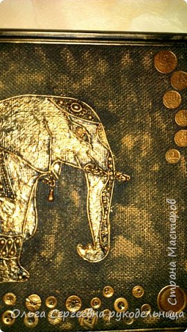 Здравствуйте мастера нашей огромной страны!!! Спешу похвастаться своей новой работой,моим слоном! Здесь я пыталась использовать техники пэйп-арт и терра, вот интересны ваши мнения,комментарии и советы))) фото 2