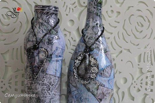 Приветствую жителей Страны! Рада всех видеть! ) Сегодня у меня очередное пополнение батареи декорированных бутылочек, банок )) Не отпускает пока желание сделать что-то красивое из доступного ) фото 2