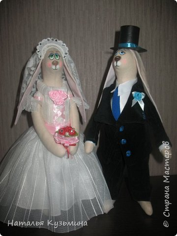 Лето -пора свадеб. Это вторая пара зайчиков. Очень понравилось их шить. Корзина из кассовой ленты. фото 2